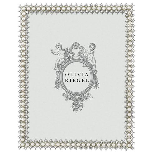 "Olivia Riegel  Crystal & Pearl 8"" x 10"" Frame $165.00"