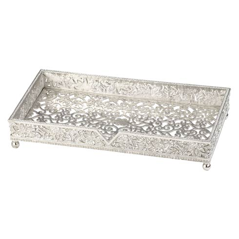 $150.00 Silver Guest Towel Holder