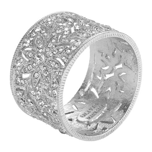 $195.00 Silver Napkin Ring Set of 4