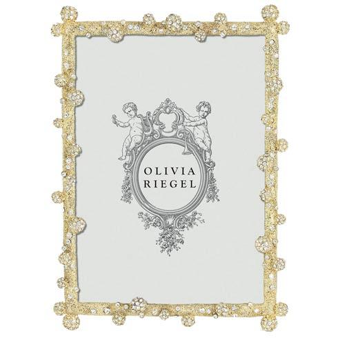 """Olivia Riegel Pavé Odyssey Gold Pavé Odyssey 5"""" x 7"""" Frame $160.00"""