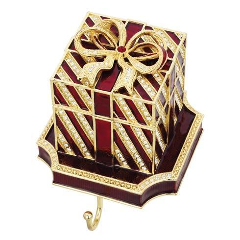 $205.00 Red Gift Box Stocking Holder