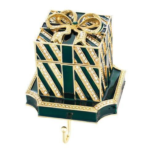 $205.00 Green Gift Box Stocking Holder