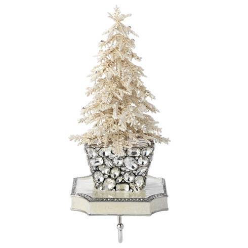 $360.00 Flocked Crystal Tree Stocking Holder