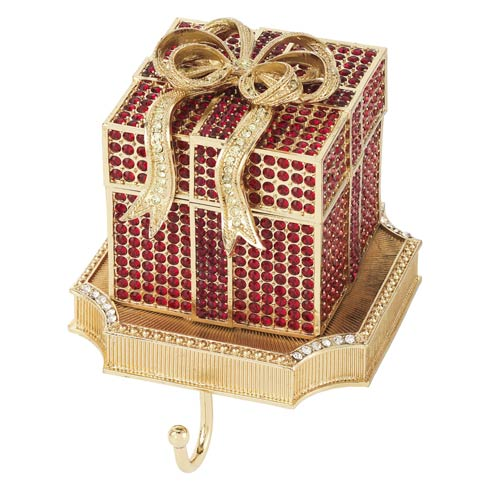 $375.00 Ruby Pavé Gift Box Stocking Holder