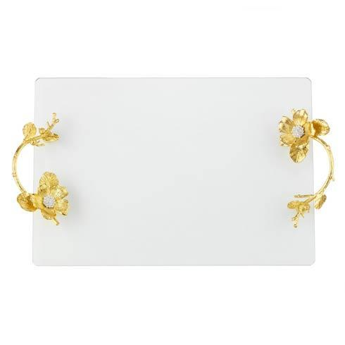 Olivia Riegel  Gold Botanica Glass Tray $200.00