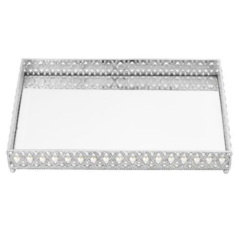 $450.00 Large Pegeen Beveled Mirror Tray