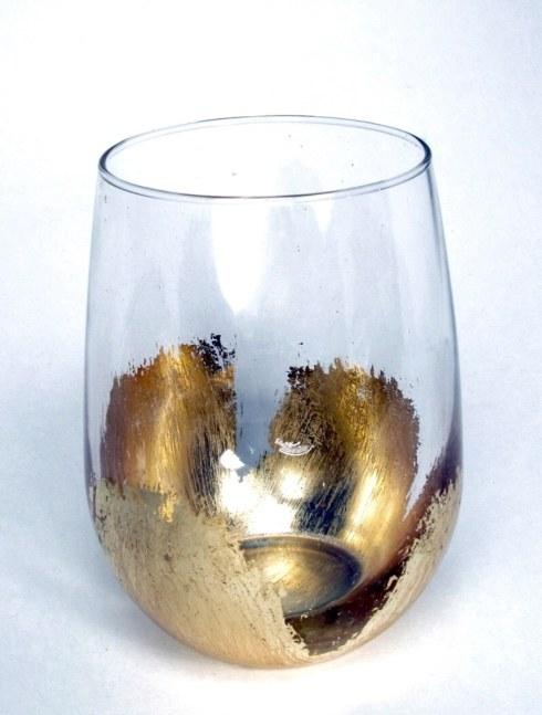 ELM Designs   Gold Leaf Stemless Wine $27.00