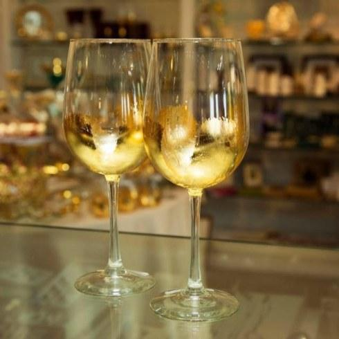 ELM Designs   Gold Leaf Wine Glass $29.00
