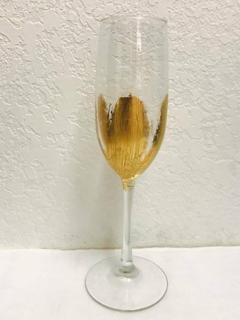 $29.00 Gold Leaf Champagne Flute