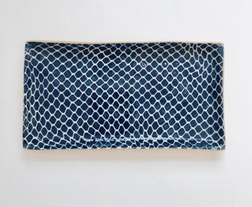 $96.00 Small Rectangular Stacking Tray Taj Cobalt