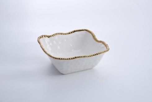 Pampa Bay  Golden Salerno Large Square Salad Bowl $81.25