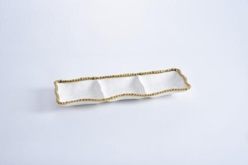 Pampa Bay  Golden Salerno 3-Section Serving Piece $43.75
