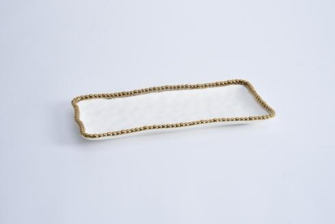 Pampa Bay  Golden Salerno Medium Rectangular Tray $37.50