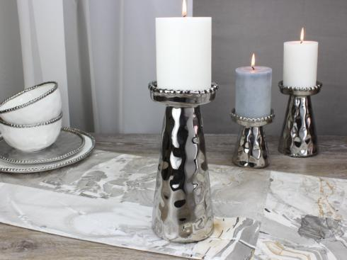 $27.50 Large Beaded Candle Holder