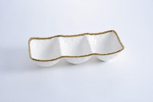Pampa Bay  Golden Salerno 3-Section Serving Piece $90.00