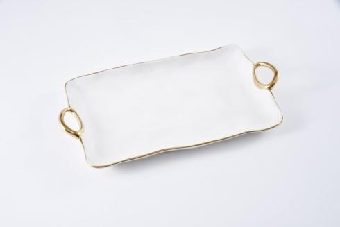 Pampa Bay  Golden Handles Large Platter $62.50