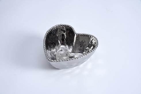 $16.25 Heart Bowl Silver