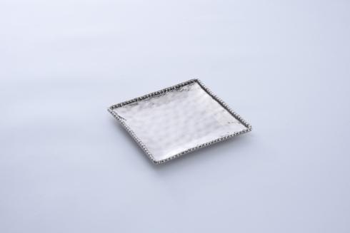 Square Salad Plate - Silver