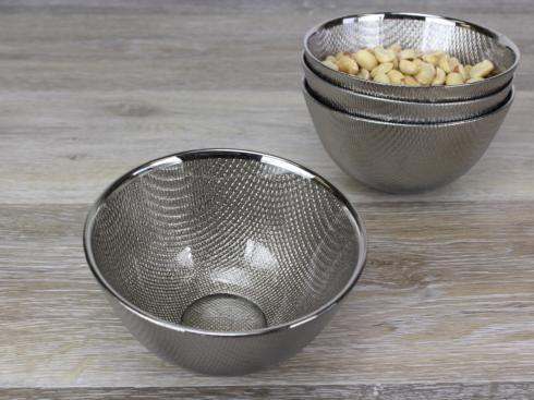 $12.50 Snack Glass Bowl - Champagne