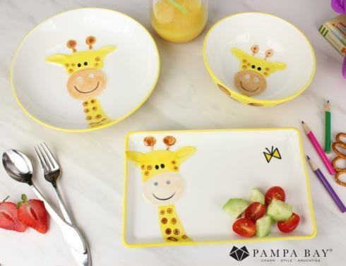 $50.00 Three-piece Dinner Set - GIRAFFE