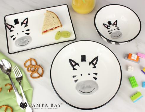 $50.00 Three-Piece Dinner Set - ZEBRA