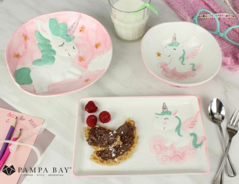 $50.00 Three-Piece Dinner Set - UNICORN