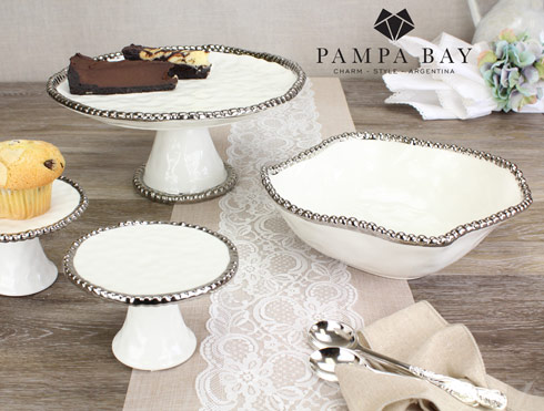 Pampa Bay  Salerno Round Cake Stand $75.00