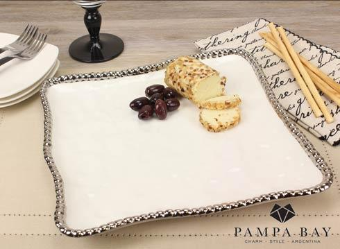 Pampa Bay  Salerno Square Platter $37.50