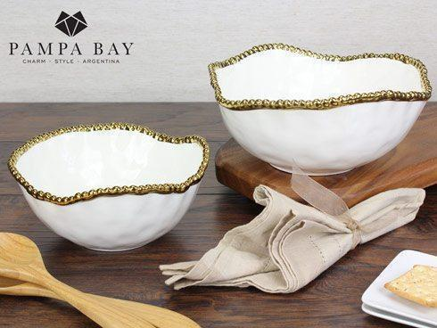 Pampa Bay  Golden Salerno Medium Salad Bowl $45.00