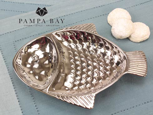 $25.00 2 Section Fish Dish