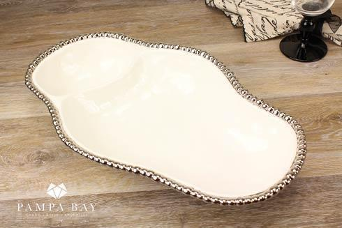 Pampa Bay  Salerno 2 Section Serving Pieces $62.50