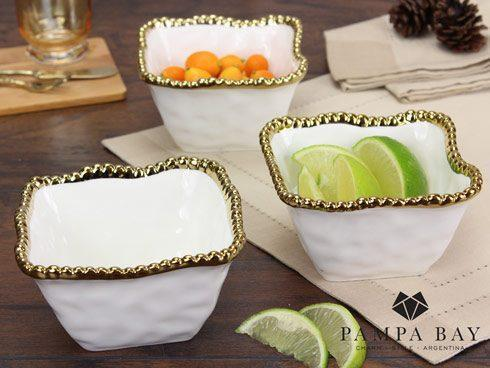 Pampa Bay  Golden Salerno Square Snack Bowl $12.50