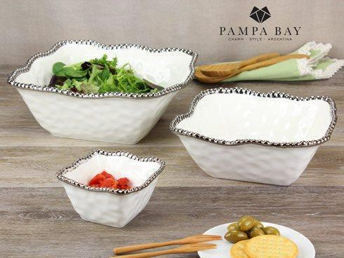 Pampa Bay  Salerno Large Square Salad Bowl $81.25