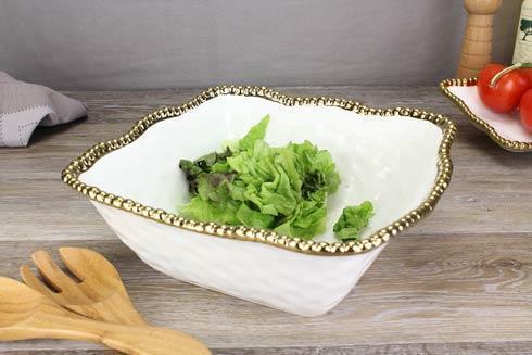 Pampa Bay  Golden Salerno Large Square Salad Bowl $81.25