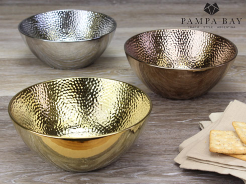 Pampa Bay  Hammered Round Utility Bowl - Bronze Finish $20.00