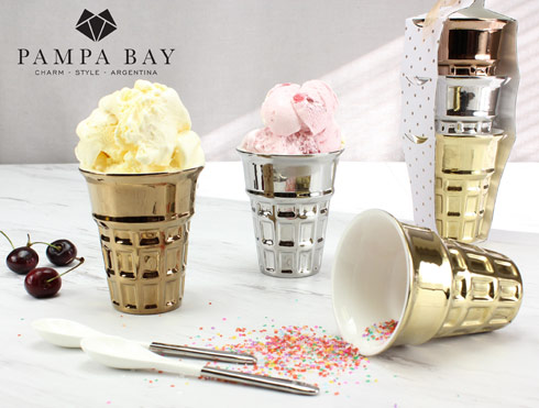 Pampa Bay  Let's Entertain Ice Cream Cones - Set of 3 $33.75