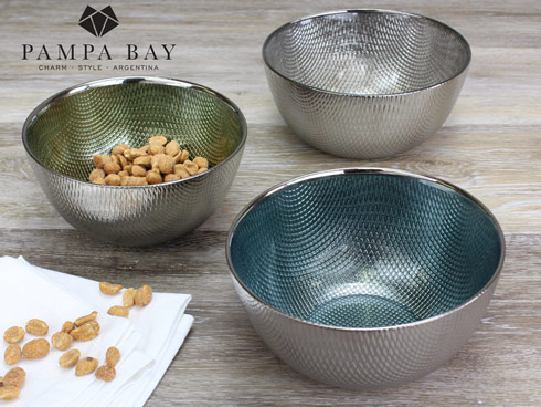 $16.25 Snack Glass Bowl - Champagne
