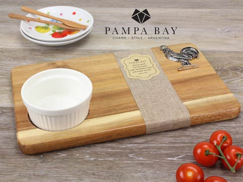 Pampa Bay  Let's Entertain Rooster Wood board Set-2Pc. $50.00