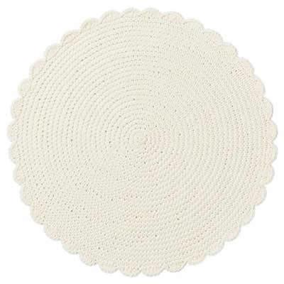 $16.00 crocheted placemat ivory
