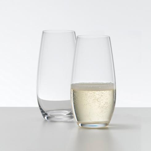 Stemless O champagne flute set/2 collection with 1 products