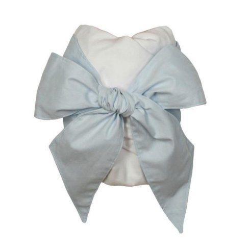 $74.00 Beaufort Bonnet Buckhead Blue Bow Swaddle with Monogram: wSo