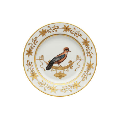 Polka-Dot Penguin Exclusives   Richard Ginori Voliere Geai Salad/Dessert Plate $175.00