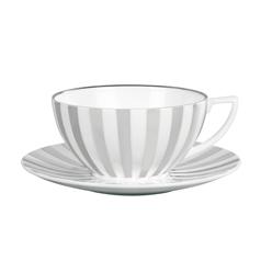 $43.00 Platinum Stripe Saucer