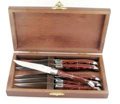 $159.00 Rosewood Steak Knives Set/6