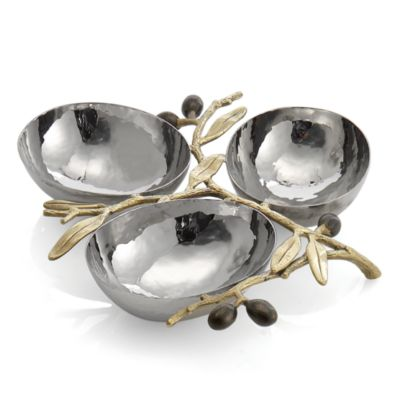 Olive Branch 3-Compartment Dish