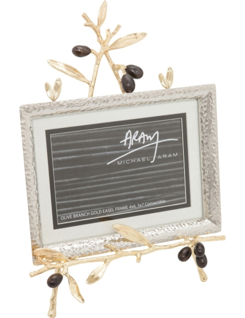 Olive Branch Frame with Easel Gold
