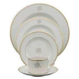 $80.00 Pickard Signature Gold Dinner Plate Monogrammed  sc 1 st  Polka-Dot Penguin & Polka-Dot Penguin Exclusives ~ Dinnerware ~ Pickard Monogrammed ...