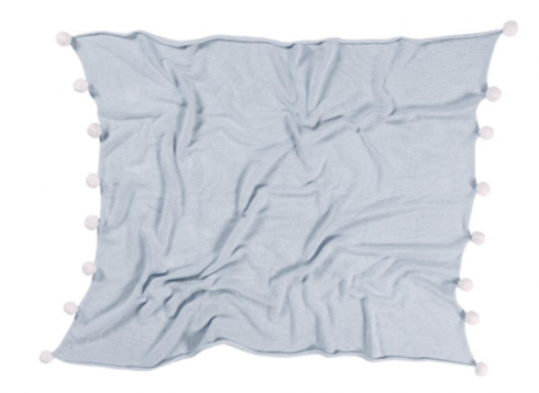 $89.00 Lorena Canals Baby Blanket Bubbly Soft Blue
