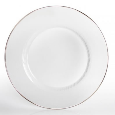 $48.00 Silver Rim Glass Charger