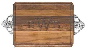 $87.50 Walnut 10x16 rectangular cuttingboard